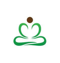yoga meditation logo image vector image vector image