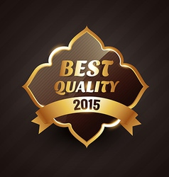 2015 best quality golden label design vector image