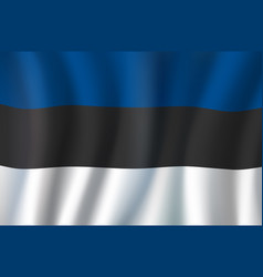 3d realistic wavy estonia flag vector image