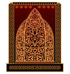 A fantasy oriental window from eastern fairy tale vector