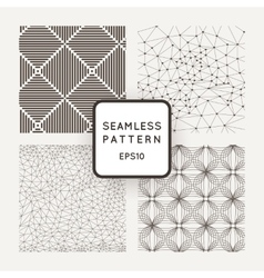 A set of four seamless patterns Grid vector image vector image