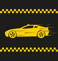 a simple icon a yellow taxi car on a vector image