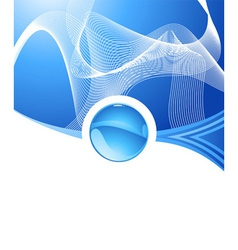 abstract aqua concept vector image