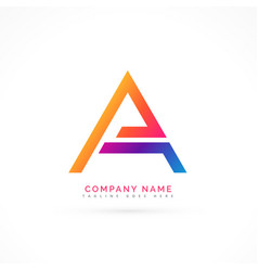 abstract letter a logo design vector image