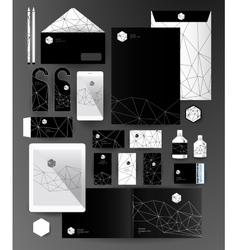 Abstract thin line polygonal vector image