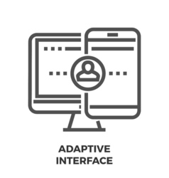 Adaptive interface line icon vector