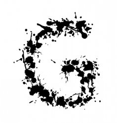 alphabet ink g vector image
