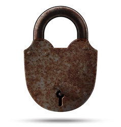 Ancient lock vector image