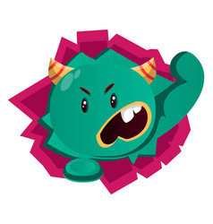 angry green monster vector image