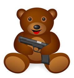 Bear pistol vector
