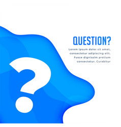 Blue question web help and support background vector