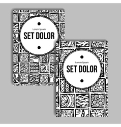 Booklet with Block Pattern vector