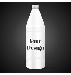Bottle with cleaner isolated on black background vector image
