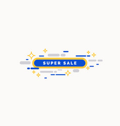 bright sale poster with geometric shapes vector image