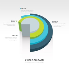 Business Infographics circle origami 3d style vector image