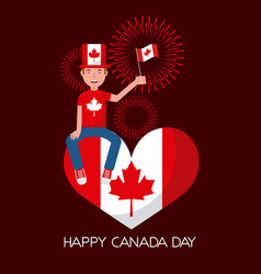 canada day card vector image