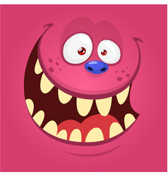 cartoon monster face isolated mask vector image