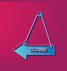 closed sign blue 3d printed vector image