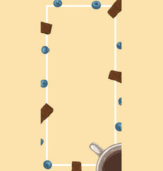 Coffee card or menu template vector