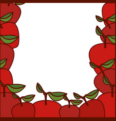 colorful background of apples fruits vector image