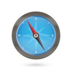 Compass icon blue and brown on a white vector