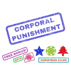 Corporal Punishment Rubber Stamp vector