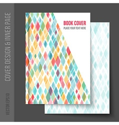 cover design for business brochure annual report vector image