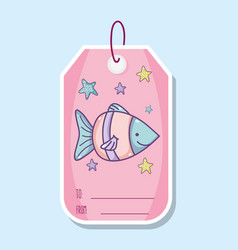 Cute sea animals printable sheet vector