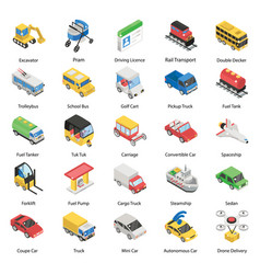 Different means transportation in isometric st vector
