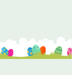 easter egg unique on hill landscape vector image