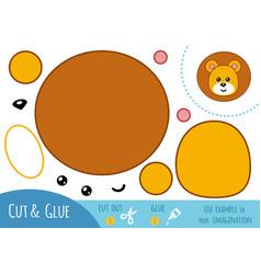 education paper game for children lion vector image