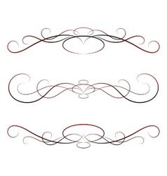 Elements of design calligraphy set vector
