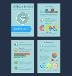 energy saving and clean set vector image