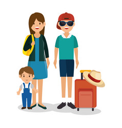 family vacations avatars icon vector image