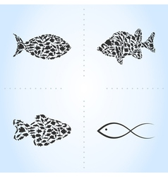 Fish an icon vector image
