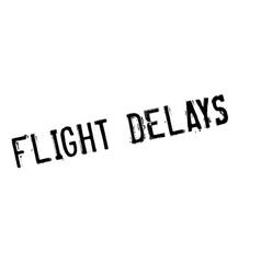 Flight Delays rubber stamp vector