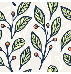 Floral seamless pattern 4 vector image
