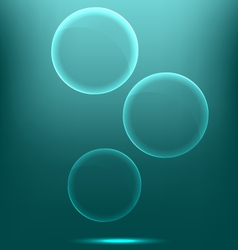 Glassy infographic circles icons on cyan vector