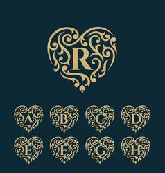 golden luxury logo template vector image