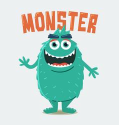 Green hairy monster vector