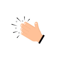 hands clap icon applause flat symbol vector image