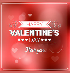 Happy valentine day retro background bokeh blurred vector