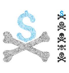 Hatch collage mortal debt icon vector