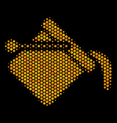 hexagon halftone paint bucket icon vector image