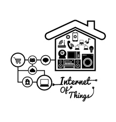 House internet of things design vector