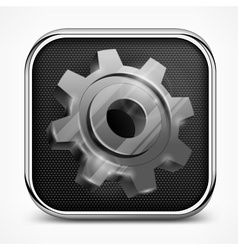 Icon with gear on white vector image