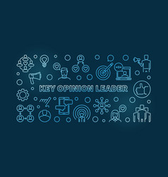 key opinion leader blue linear kol vector image