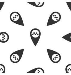 map pointer with taxi icon seamless pattern vector image