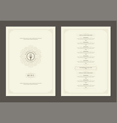 Menu design template with cover and restaurant vector