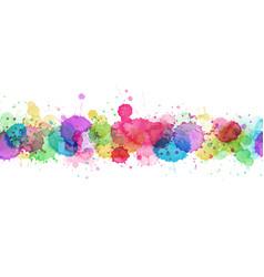 Modern template design with multicolored splash vector